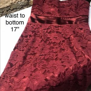 M60 Miss Sixty Strapless Lace Overlay Dress size 6